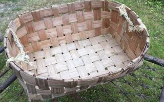 pyykkikori punottu kori koppa pärekori