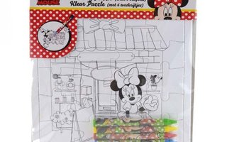 Minnie mouse Colouring puzzle with 6 crayons