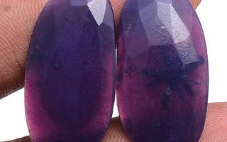 Tsaroiitti pari 34.70 karaattia rahka purppura / violetti