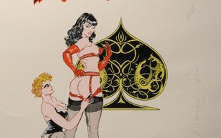 Lithograph 66 - Denis Sire - Betty Page, Pin Up Queen