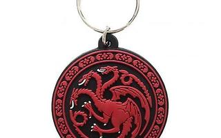 GAME OF THRONES TARGARYEN RUBBER KEYCHAIN	(64 176)	avaimenpe