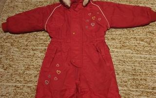 Punainen toppahaalari tytölle, koko 86 cm