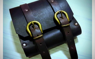 Fantasy, Medieval, Steampunk, Motorbike beltbag,Real Leather