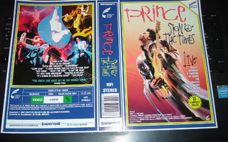 Vhs kansipaperi Fix PRINCE : SIGN O' THE TIMES  (Sis.pk:t)