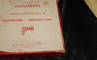 MAUSER m/98 (Saksa) ja m/1894, m/1896, m/1938 (Ruotsi); JYVÄ
