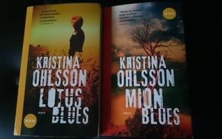 Kristina Ohlsson -LOTUS BLUES ja MION BLUES (pokkarit 2 kpl)