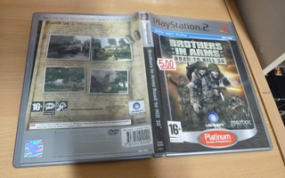 Brothers In Arms Road To Hill 30 Platinum   ( ps2 ) 12197