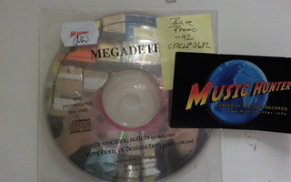 MEGADETH - SWEATING BULLETS RARE PROMO CD