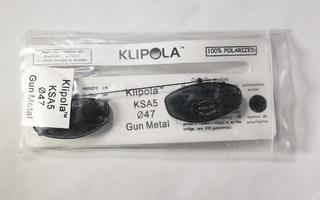 Polarisoidut klipsiaurinkolasit Klipola KSA5 47 mm harmaa
