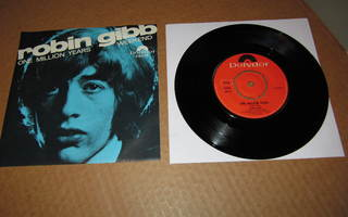 """Robin Gibb 7"""" One MIllion Years, PS v.1969 EX/EX Bee Gees"""