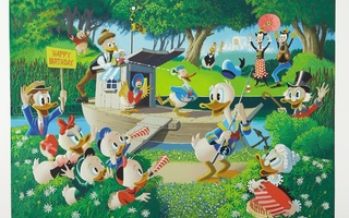 Lithograph 01 - Barks, Carl - Surprise Party At Memory Pond