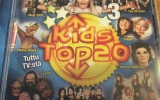 Kids Top 20 vol. 3 (CD+2) HYVÄ KUNTO!! Lordi Indica Apulanta
