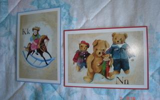 Nalle- ja nukke-kortit