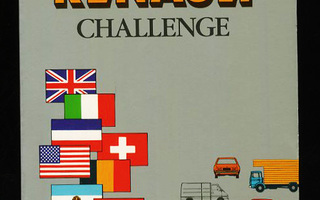 The RENAULT CHALLENGE  by Edouard Seidler 1981 nid UUSI