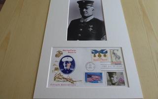 Daniel J. Daly Marine Corps WWI valokuva & FDC