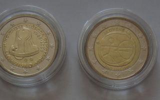 4 kpl erilaisia SLOVAKIA 2 euron erikoiskolikoita