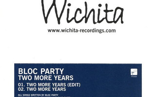 Bloc Party – Two More Years PROMO CD-Single