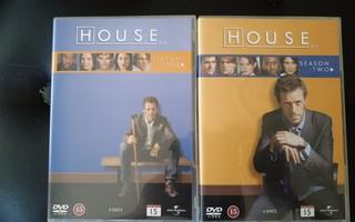 HOUSE - kausi 1 ja/tai kausi 2 (2x6DVD)