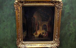 Interiöörimaalaus katedraali 1800-luku