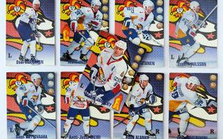 1998-99 CardSet - Jokerit - Yhdeksän pelaajaan kortit