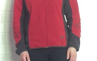 Halti punainen/harmaa fleece takki 38