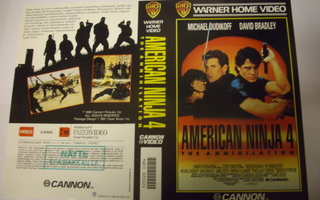 Vhs kansipaperi Fix - AMERICAN NINJA 4 The Annihilation