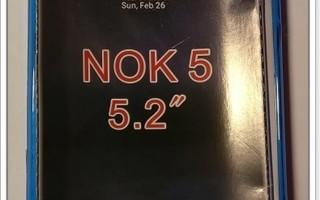 Nokia 5 - Sininen geeli-suojakuori & suojakalvo #23411