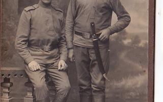 VANHA Kabinetti Valokuva Venäjän Sotilaat Bebut Hukari 1916