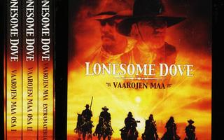LONESOME DOVE - Vaarojen maa osat 1-3+ Box  3-DVD UUSI-