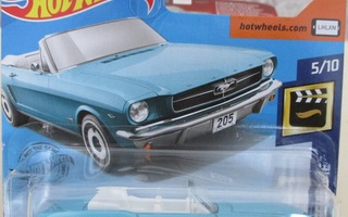 Ford Mustang Convertible baby-blue 1965 Hot Wheels 1:64