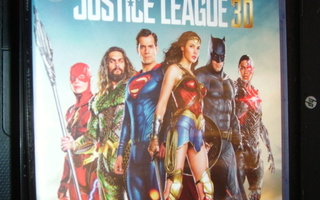 Blu-ray 3D + Blu-ray : JUSTICE LEAGUE 3D    ( UUSI ! )