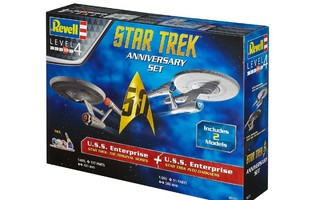 STAR TREK 50 ANN SET 2 MODELS	(21 772)	revell 2 koottaavaa
