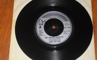 """7"""" GARY GLITTER - And then she kissed me - single 1981 glam"""