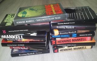 14 kpl Henning Mankell kirjaa. Kesälukemista!