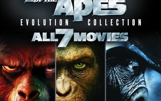 Planet of the Apes Evolution Collection 7 x Blu-ray