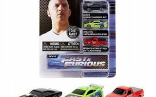 FAST & FURIOUS NANO HOLLYWOOD RIDES NV-1	(62 411)	3 cars,die