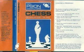 Chess – pelikasetti (Psion Computers) 1981