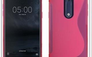 Nokia 5 - Pinkki geeli-suojakuori & suojakalvo #23413