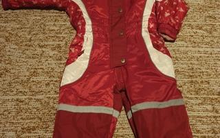 Kaunis puna/valkoinen TOPPAHAALARI tytölle 86/92 cm