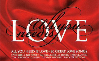 ALL YOU NEED IS LOVE - 30 great love songs - 2CD