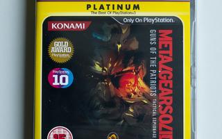 Metal Gear Solid 4 Platinum (PS3)