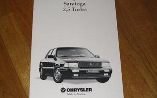1990 Chrysler Saratoga 2.5 Turbo esite - suom