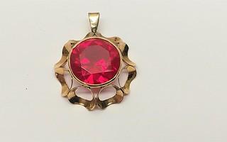 14 Karaatin kultainen rubiini riipus, RMV 585
