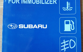 Subaru Registration Manual for Immobilizer, 2012h
