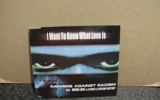 Rappers Against Racism : I Want To Know What Love Is CD