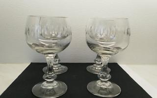 Iittala helmi-sarjan kristalli lasit 4 kpl
