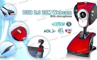 5.0 MP USB Webcam Web Cam Camera webbikamera, RED, UUSI