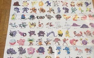 Pokemon 1. sukupolvi -juliste + Perfect Dark