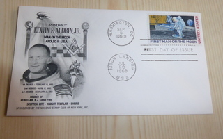 Vapaamuurari Buzz Aldrin Jr. Apollo 11 USA 1969 FDC