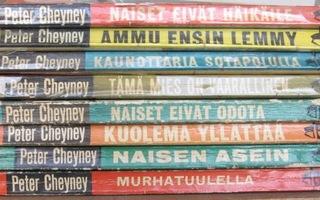 Peter Cheyney -kirjat. Koko sarja 8 kpl.  1963 - 1964.